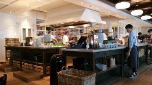 Their open-concept greens kitchen.
